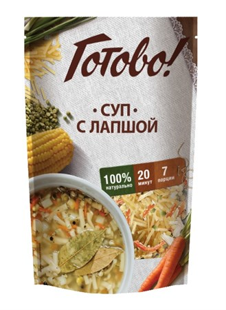 Суп с лапшой, 150г, Ярмарка Готово - фото 14549