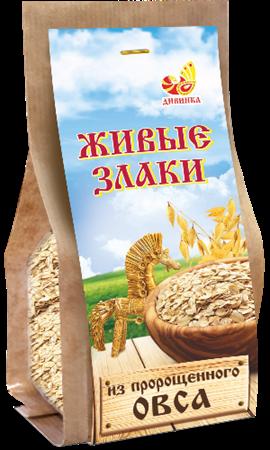 Каша Живые злаки из пророщенного овса, 300г, Дивинка - фото 15516