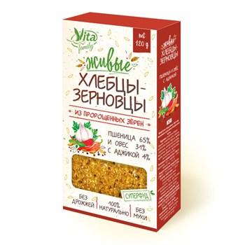 Живые хлебцы с аджикой, 120г, Вита фэмили - фото 16931