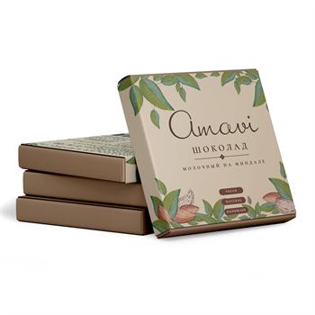 Шоколад молочный на миндале, 70г, Амави - фото 17473