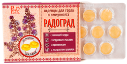 Леденцы живичные шалфей, 32г, Радоград