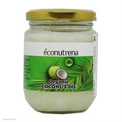 Масло кокосовое органическое, 200мл, Econutrena