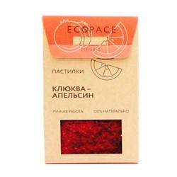 Пастилки Клюква-апельсин, 40г, Ecospace