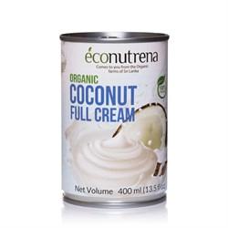 Сливки кокосовые органические 30%, 400мл, Econutrena