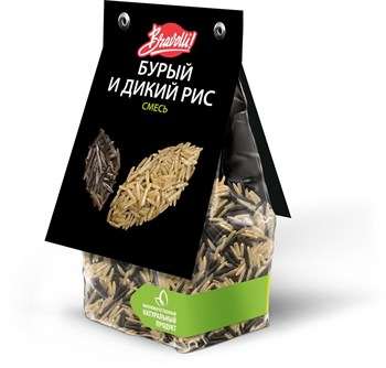 Смесь бурый и дикий рис, 350г, Ярмарка Браволли - фото 14571