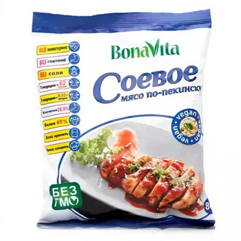 Соевое мясо по-пекински, 80г, Bona Vita - фото 14649