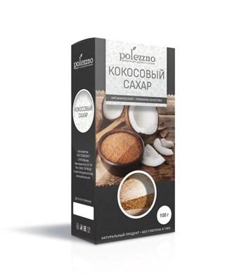 Сахар кокосовый, 100г, Полеззно - фото 15095