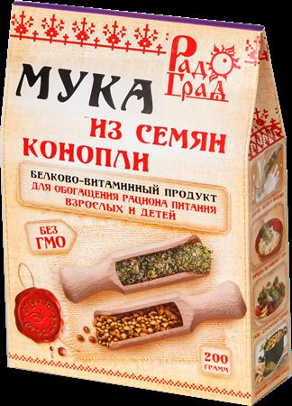 Мука конопляная, 200г, Радоград - фото 15268