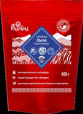 Семена льна коричневые, 400г, Радоград - фото 15294