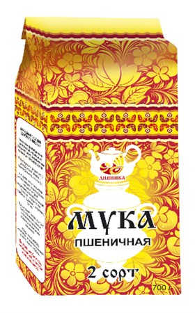 Мука пшеничная алтайская 2 сорт, 700г, Дивинка - фото 15476