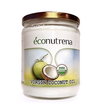 Масло кокосовое органическое, 500мл, Econutrena - фото 15566