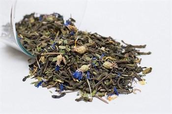 Чай зеленый с иван-чаем, мелиссой, васильком и календулой, 75г, Алтай сила - фото 16639