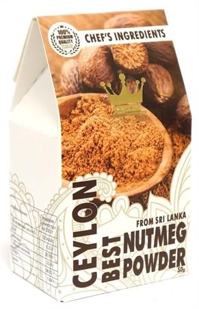 Мускатный орех молотый премиум, 50г, ШриЛанка - фото 17061