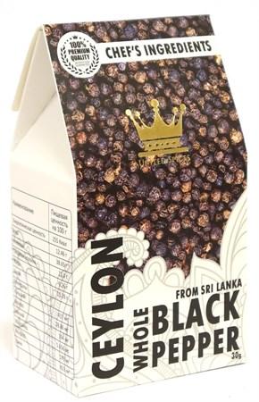Перец черный горошек, 30г, ШриЛанка - фото 17065
