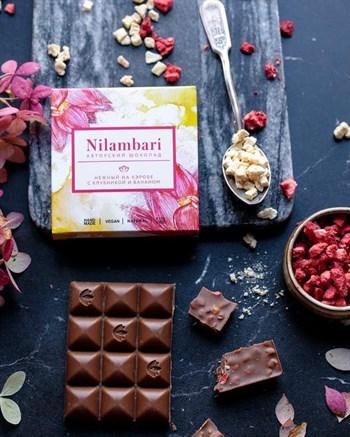 Шоколад на кэробе с клубникой и бананом, 65 г, Nilambari - фото 17455