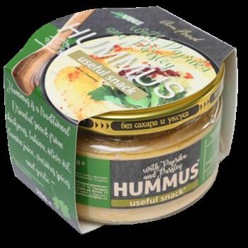 Хумус с паприкой и петрушкой, 200г, Полезные продукты - фото 18170