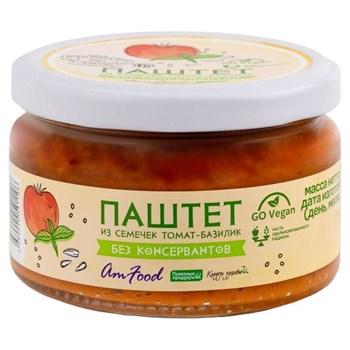 Паштет из семечек с томатом и базиликом, 200г, Полезные продукты - фото 18178