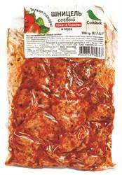 Шницель соевый в соусе с томатом и базиликом, 300г, Соймик