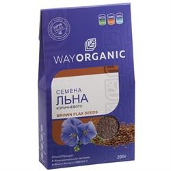 Семена льна коричневого, 200г, Way Organic