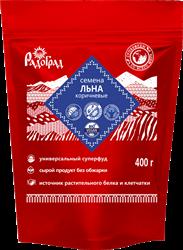Семена льна коричневые, 400г, Радоград