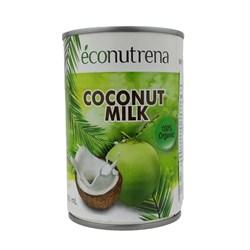 Молоко кокосовое органическое 17%, 400мл, Econutrena