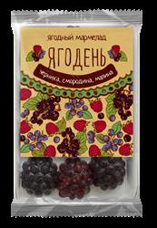 Мармелад Ягодень черника, смородина, малина, 150г, Сибирский кедр