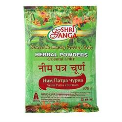 Травяной порошок Ним патра чурна, 100г, Шри Ганга