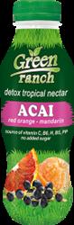 Нектар красный апельсин, мандарин, асаи, 410мл, Green ranch