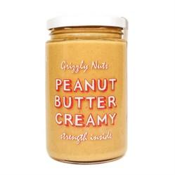 Арахисовая паста кремовая Creamy, 370г, Grizzly nuts