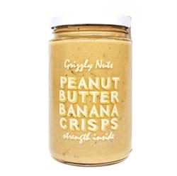 Арахисовая паста с банановыми чипсами Banana crisps, 370г, Grizzly nuts