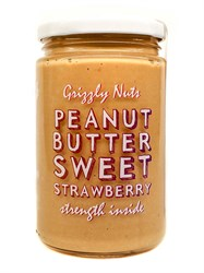 Арахисовая паста клубничная Sweet strawberry, 370г, Grizzly nuts