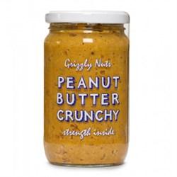Арахисовая паста хрустящая Crunchy, 370г, Grizzly nuts