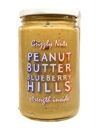 Арахисовая паста черничная Blueberry hills, 370г, Grizzly nuts