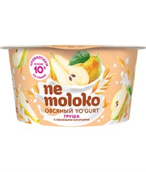 Йогурт овсяный Груша-овсяные хлопья, 130г, Немолоко