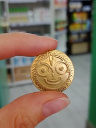 Сувенирные монетки ручной чеканки Джаганнат-Ом